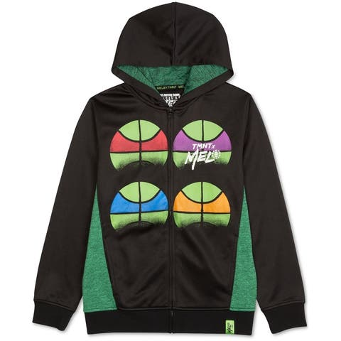 Nickelodeon Boys Tmnt Fleece Hoodie Sweatshirt