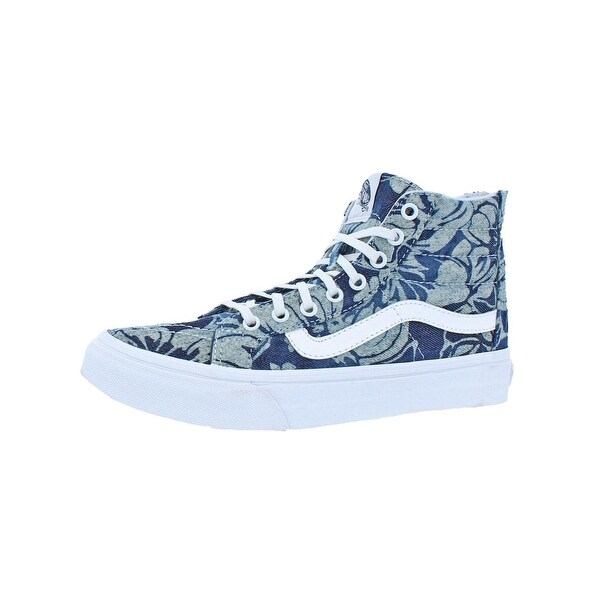 3918162aab Shop Vans Womens SK8-Hi Slim Zip High Top Sneakers Skate Indigo ...