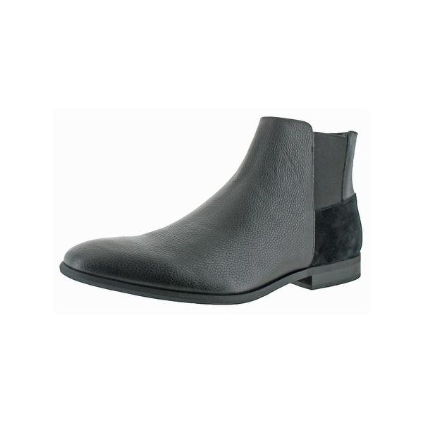 Calvin Klein Mens Larry Chelsea Boots Square Toe Casual - 10.5 medium (d)