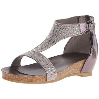 Kenneth Cole Reaction Girls Open Toe Rhinestone Wedge Sandals - 5