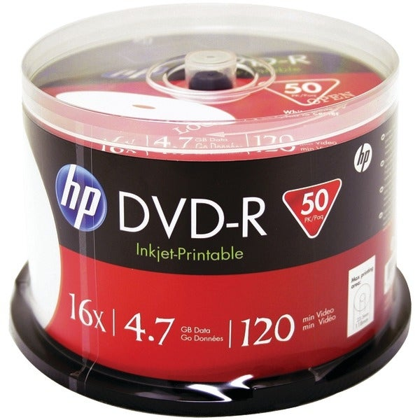 Hp Dm16Wjh050Cb 4.7Gb Dvd-Rs, 50-Ct Printable Spindle
