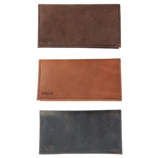 Boston Leather Multi Leather Checkbook Cover Set (Pack of 3) - One size