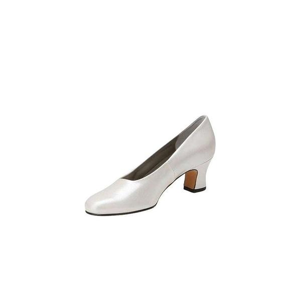Mark Lemp Classics Womens Vicki Closed Toe Classic Pumps, White pearl, Size 8.0 - 8