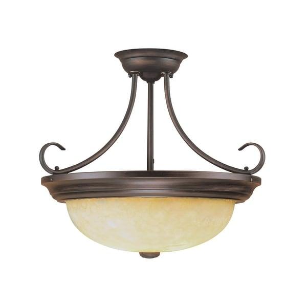 Millennium Lighting 5205 3 Light Semi-Flush Ceiling Fixture - Rubbed bronze