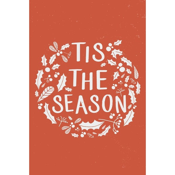 e6fd5a6ef6 Tis the Season (Orange) - Lantern Press Artwork (Art Print - Multiple Sizes  Available) - 9 x 12 Art Print