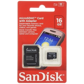 SanDisk 16GB Mobile MicroSDHC Class 4 Flash Memory Card With Adapter|https://ak1.ostkcdn.com/images/products/is/images/direct/64f443bce12ffe80375c6a6fb76d6ff92b08d680/SanDisk-16GB-Mobile-MicroSDHC-Class-4-Flash-Memory-Card-With-Adapter.jpg?_ostk_perf_=percv&impolicy=medium