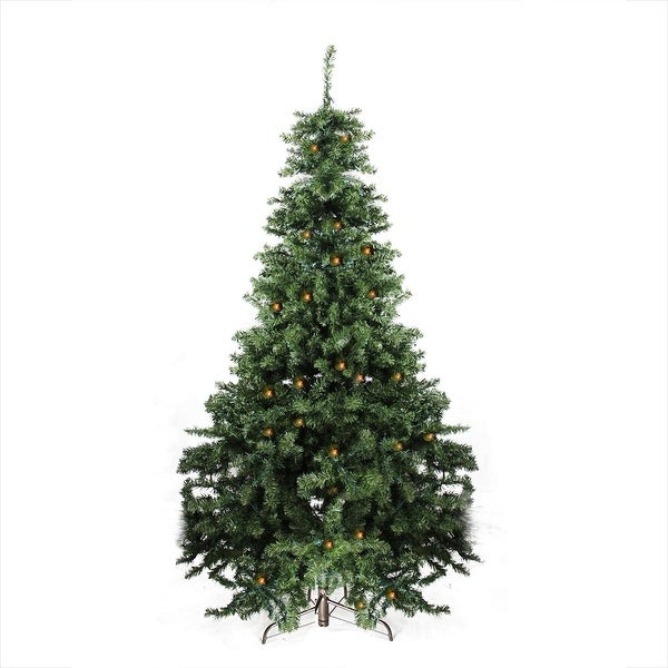 7' Pre-Lit Canadian Pine Artificial Christmas Tree - Candlelight LED Lights