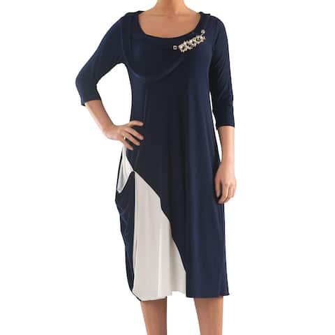 LA MOUETTE Women's Plus Size Dice Jersey Dress