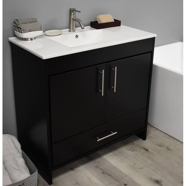 Volpa Usa Pacific 36 Inch Black Freestanding Bathroom Vanity Set Overstock 32169513