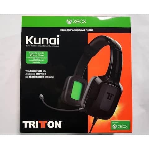 Mad Catz Tritton Kunai Stereo 3.5mm Headset XBox One BLK TRI484030M02/02/1