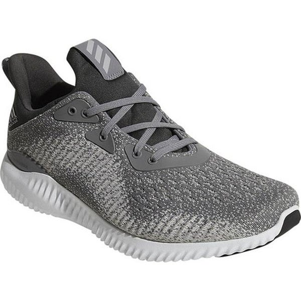 d9befcc73 Shop adidas Men s AlphaBOUNCE EM Running Shoe Grey Grey Solid Grey ...
