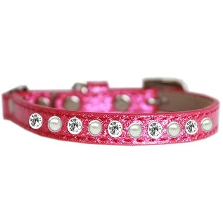 Pearl and Clear Jewel Ice Cream Cat safety collar Pink Size 14