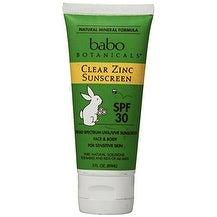 Babo Botanicals SPF 30 Clear Zinc Lotion - 3 Ounces, Best Natural Mineral Sunscreen, Non-Nano, Sensitive