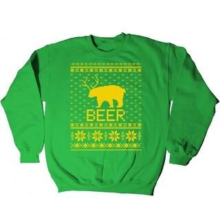Ugly Party Beer Bear Funny Drinking Christmas Novelty Mens Sweatshirt