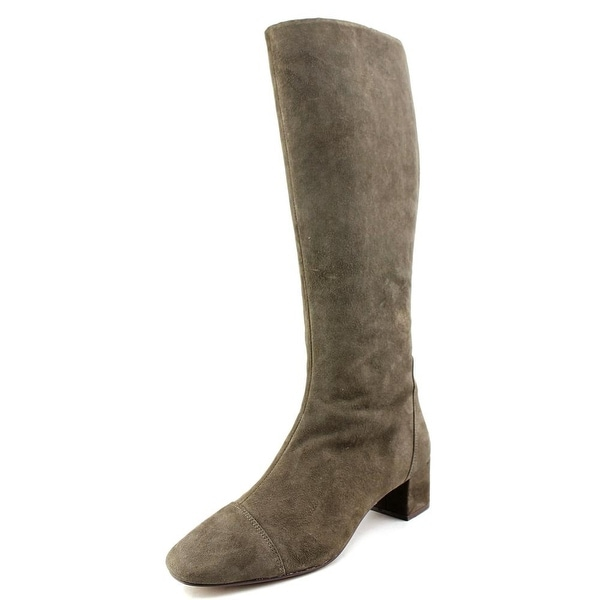 Nine West Anatolia Women Round Toe Suede Gray Knee High Boot