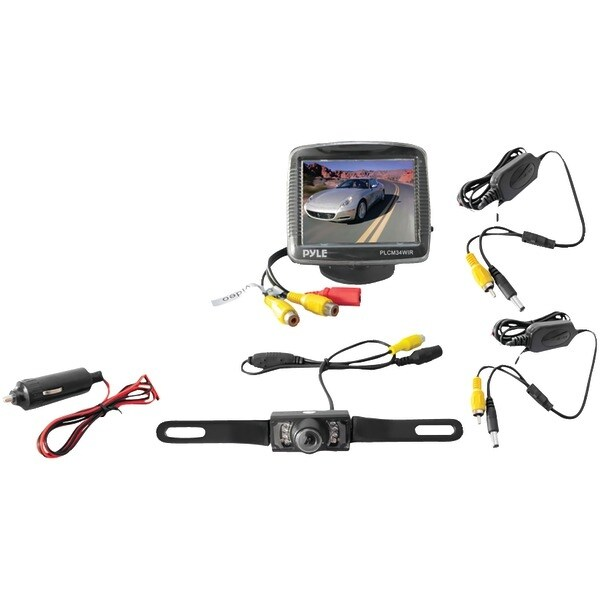 """PYLE PRO PLCM34WIR 3.5"""" Wireless Backup Camera & Monitor System with Night Vision"""