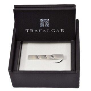 Trafalgar Cut Layered Tie Clip Silver