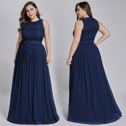 Ever-Pretty Women Plus Size Long Evening Prom Party Dress 73912