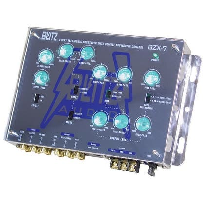 3-Way Electronic Crossover Network with Subwoofer Level Control