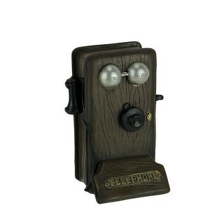 Link to Brown Wood Look Antique Telephone Coin Bank Small Similar Items in Collectibles