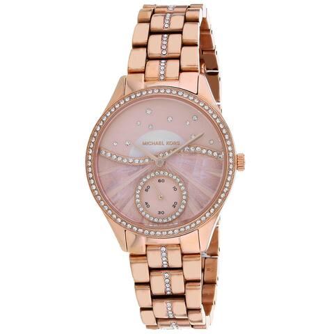 Michael Kors Women's Lauryn Pink Dial Watch - MK4436 - One Size