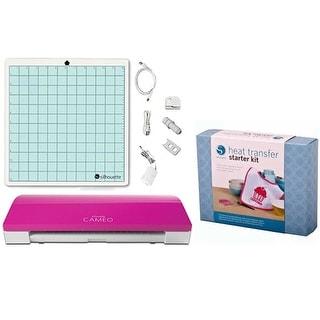 Silhouette Cameo 3 Bluetooth Pink Die Cutting Machine Heat Transfer Starter Kit Bundle
