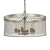 "Donny Osmond Home 4886 6 Light 24.75"" Wide Pendant from the Eastman Collection - silver and bronze"