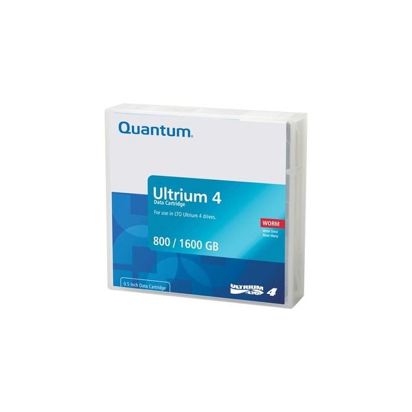 Quantum MR-L4MQN-02 Quantum LTO Ultrium 4 WORM Tape Cartridge - LTO Ultrium LTO-4 - 800GB (Native) / 1600GB (Compressed)
