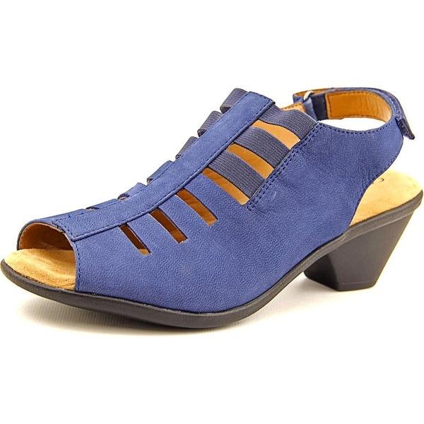 Comfortiva Faye Women N/S Open-Toe Leather Slingback Heel