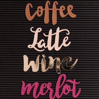 Dcwv Letterboard Words-Coffee & Wine