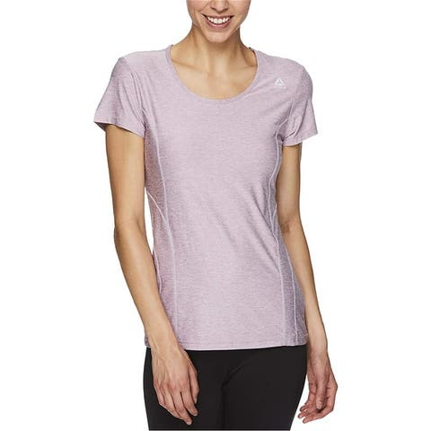 Reebok Womens Reversed Marled Basic T-Shirt