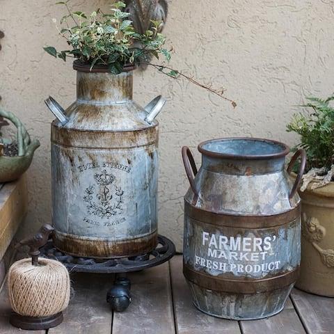 RusticReach Rusty Metal Barrel
