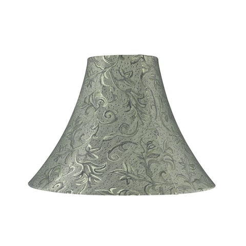 "Aspen Creative Bell Shape Spider Construction Lamp Shade in Green (6"" x 16"" x 12"")"
