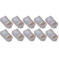 4XEM 4X100PKC6 4XEM 100PK Cat6 RJ45 Ethernet Plugs/Connectors - 100 Pack - 1 x RJ-45 Male - Gold-plated Contacts