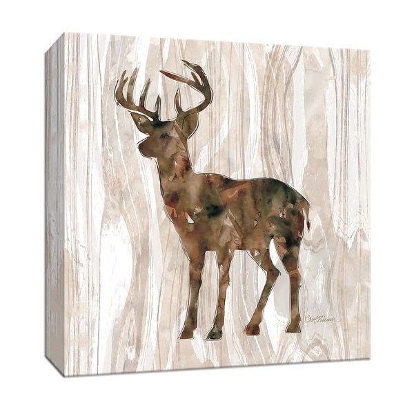 "PTM Images 9-147495 PTM Canvas Collection 12"" x 12"" - ""Pine Forest Deer"" Giclee Deer Art Print on Canvas"