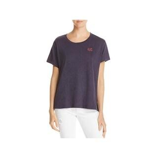 "Sundry Womens Slogan T-Shirt ""Just Love"" Slogan Tee Side Vents"