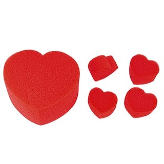Red Sponge Hearts Ball to Jumbo Magic Telesthesia Trick