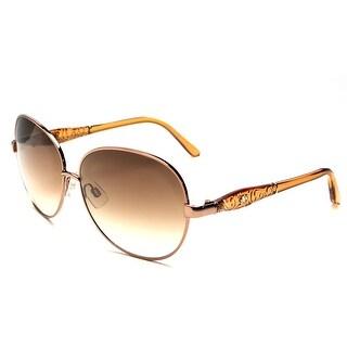 John Galliano Women's Round Metal Frame Sunglasses Orange - Small