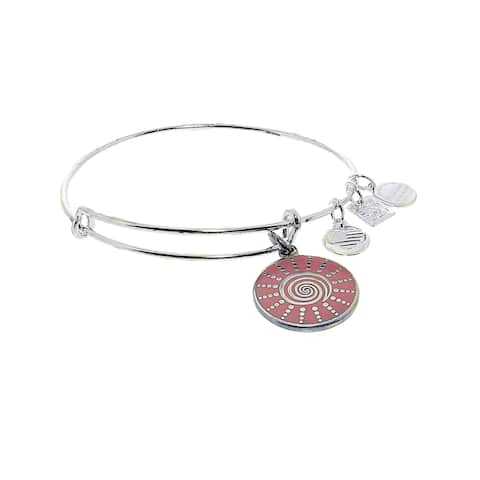 "Alex And Ani Women's Spiral Sun Bangle Bracelet - 9"" - Silver"