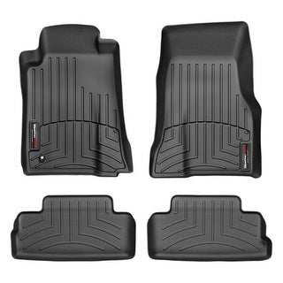 WeatherTech 44139-1-2 Black Front & Rear FloorLiner: Ford Mustang 2005- 2009 (Fit One Post Hole)