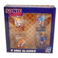 Sonic The Hedgehog Shot Glass Set of 4 - Multi