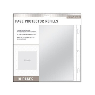 K&Co Scrapbook Refill 8x8 10pc