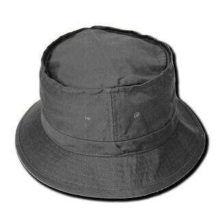 Fisherman's Bucket Sun Cap - Charcoal L/XL