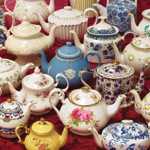 Outset Media Teapots 1000 Piece Photo Jigsaw Puzzle - Multicolor