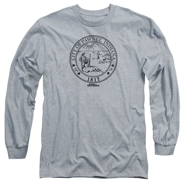 69287483aae690 Shop Parks and Recreation Pawnee Seal Mens Long Sleeve Shirt - Free Shipping  On Orders Over  45 - Overstock.com - 27136456