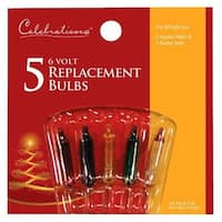 Celebrations 1155-1-71 Assorted 6V Mini Replacement Bulbs