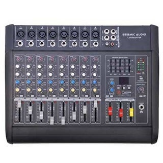 Seismic Audio - LandSlide 8P - 8 Channel DSP Professional Powered Mixer Power