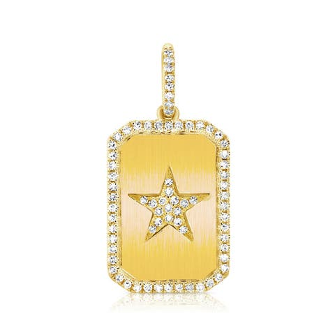 Diamond Star Charm 14K Yellow Gold by Joelle Collection