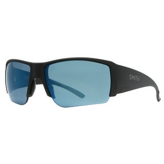 SMITH OPTICS Sport Captain's Choice Men's DL5 Matte Black Polarized Blue Mirror Sunglasses - 66mm-16mm-120mm
