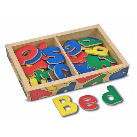 Melissa & Doug 448 Magnetic Wooden Alphabet Set, 52 Piece